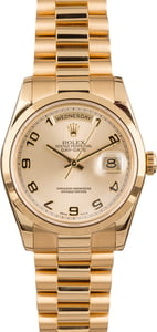 Pre-Owned Rolex 118208 President Smooth Bezel