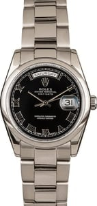 Used Rolex Day-Date 118209 18k White Gold