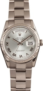 Used Rolex Day-Date 118209 Rhodium Dial 18k White Gold