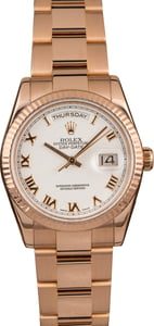 Pre-Owned Rolex DayDate 118235 Everose Gold
