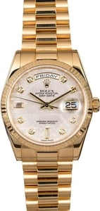 Men's Rolex President 118238 Diamond Dial