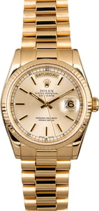 Rolex Day Date President 118238 Silver Dial