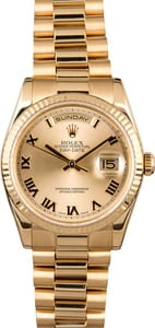 Used Rolex President 118238 Champagne Dial