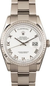 Men's Used Rolex White Gold Day-Date 118239