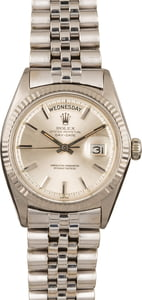 Pre-Owned Rolex Day Date 1803 Unpolished 18K White Gold