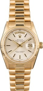 PreOwned Rolex President 18038 Yellow Gold Day-Date