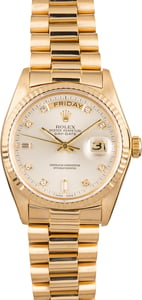 Pre Owned Rolex Day-Date 18038 President Diamond Dial