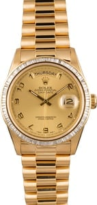 Pre-Owned Rolex President Day-Date 18038 Diamond Bezel