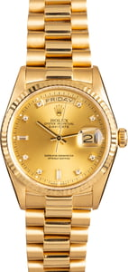 Rolex Day-Date 18038 President Diamond Dial