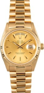Rolex Day-Date 18038 Yellow Gold President