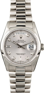 Rolex Day-Date 18206 Platinum President with Diamonds