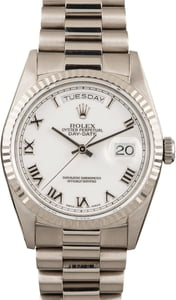 Rolex Day-Date 18239 White Gold President