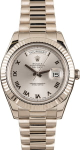Rolex Day Date White Gold 218239 Roman Dial