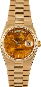Rolex OysterQuartz Day-Date 19018 Exotic Wood Dial