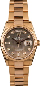 Pre Owned Rolex Day-Date 118235 Everose Gold Mother of Pearl