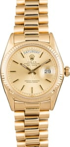 Used Rolex President 1803 Champagne 'Pie Pan' Dial