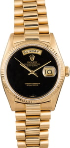 Rolex Day-Date President 18038 Black Onyx Dial