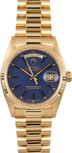 Rolex Day-Date President 18038 Blue Dial