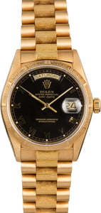 Rolex Day-Date 18078 Barked Finish President Band