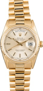 Used Rolex President 18238 Champagne Index Dial