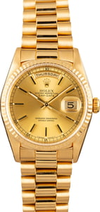 Rolex Day-Date President 18238 Champagne Dial