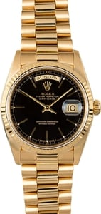 Rolex Day-Date President 18238 Black 100% Authentic