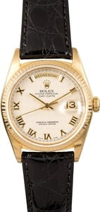 Rolex Day-Date President 18238 Leather Strap