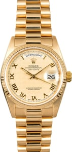 Rolex Day-Date President 18238 Pyramid Dial