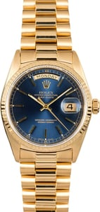 Rolex Day-Date Presidential 18038 Blue Dial