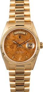 Rolex Day-Date Presidential 18038 Wood Dial