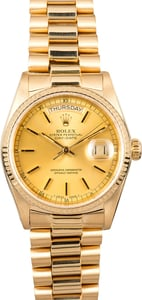 Rolex Day-Date Presidential 18038 Yellow Gold