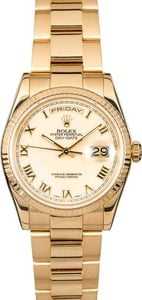 Rolex 118238 Day-Date 18k Yellow Gold Oyster