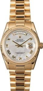 Rolex President 118238 Mother Of Pearl