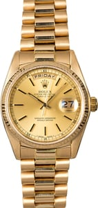 Rolex Day-Date 18038 President Certified Watch