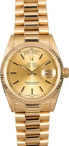 Rolex Day-Date 18038 President Certified Pre-Owned