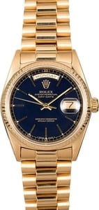 Rolex President 18038 Black Index Dial