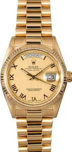 Rolex Day-Date 18038 Champagne Roman Dial