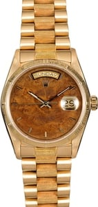 Rolex President Day Date 18078 Bark Finish