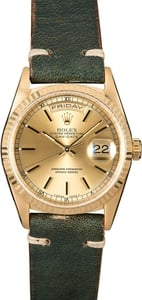 Rolex President 18238 18k Yellow Gold Fluted Bezel