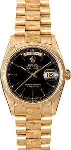 Rolex Presidential 18248 Black Index Dial