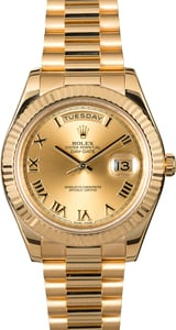 Rolex Day-Date 218238 Champagne Roman Dial