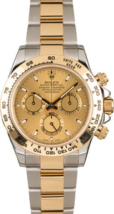 Used Rolex Daytona Two Tone Cosmograph 116503 Champagne Dial