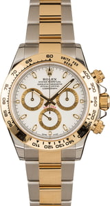 Rolex Two Tone Daytona Cosmograph 116503 White Luminous Dial T