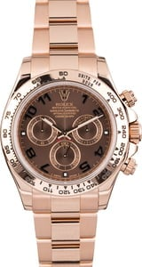 PreOwned Rolex Daytona Everose Gold 116505 Chocolate Dial
