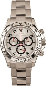 Used Rolex Daytona 116509 Silver Dial White Gold Oyster
