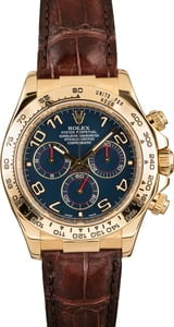 Pre-Owned Rolex Daytona 116518 Blue Arabic Dial