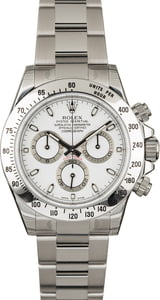 Factory Stickered Rolex Daytona 116520 White Dial