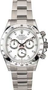 Certified PreOwned Rolex Daytona 116520 White Dial