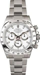 Factory Stickered Rolex Daytona 116520 Cosmograph White Dial
