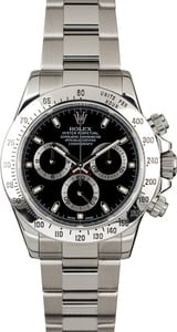 Used Rolex Daytona 116520 Black Dial